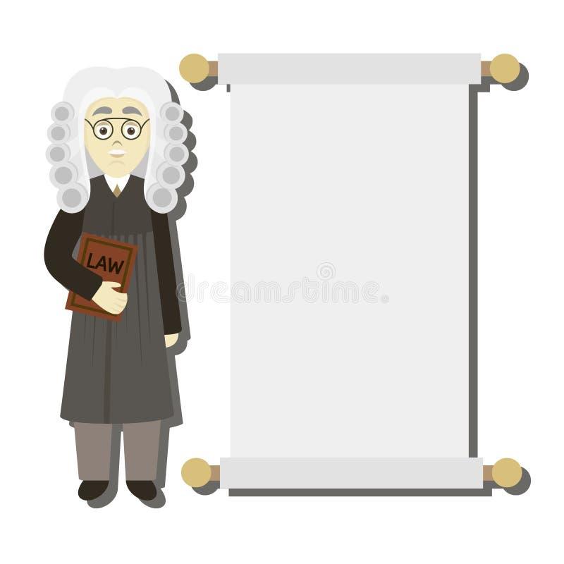 Συρμένος χέρι νομικός δικαστής ελεύθερη απεικόνιση δικαιώματος