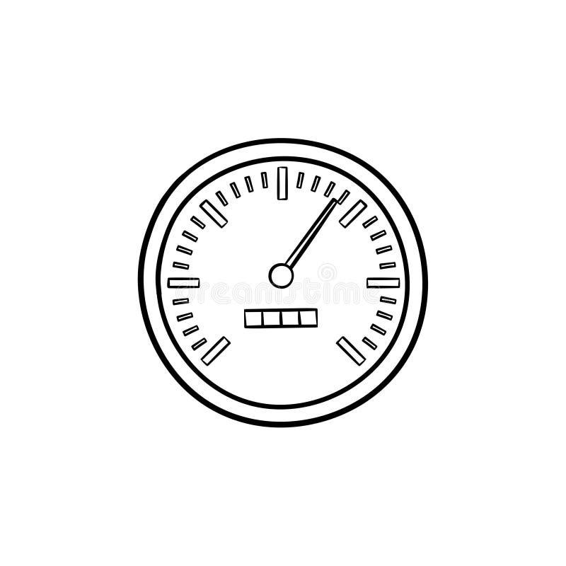 Συρμένο εικονίδιο περιλήψεων ταχυμέτρων χέρι doodle απεικόνιση αποθεμάτων