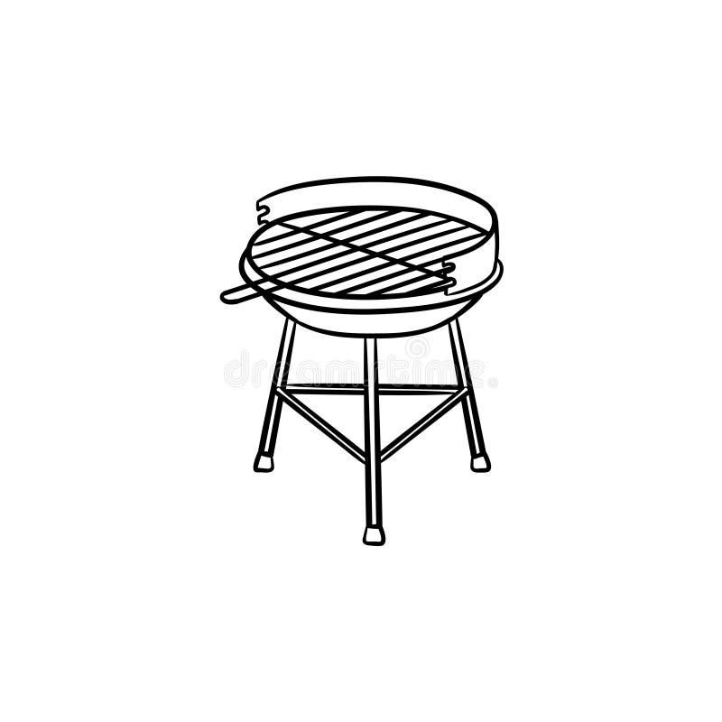 Συρμένο εικονίδιο σκίτσων σχαρών ξυλάνθρακα χέρι απεικόνιση αποθεμάτων