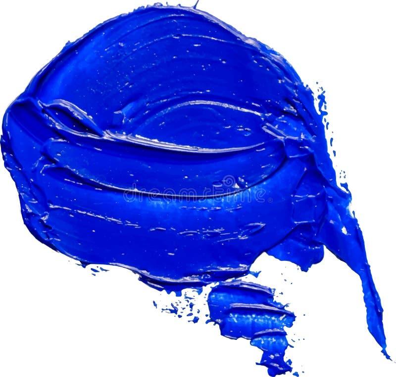 Συρμένο κατασκευασμένο μπλε κτύπημα βουρτσών ελαιοχρωμάτων λεκτικών φυσαλίδων χέρι διανυσματική απεικόνιση