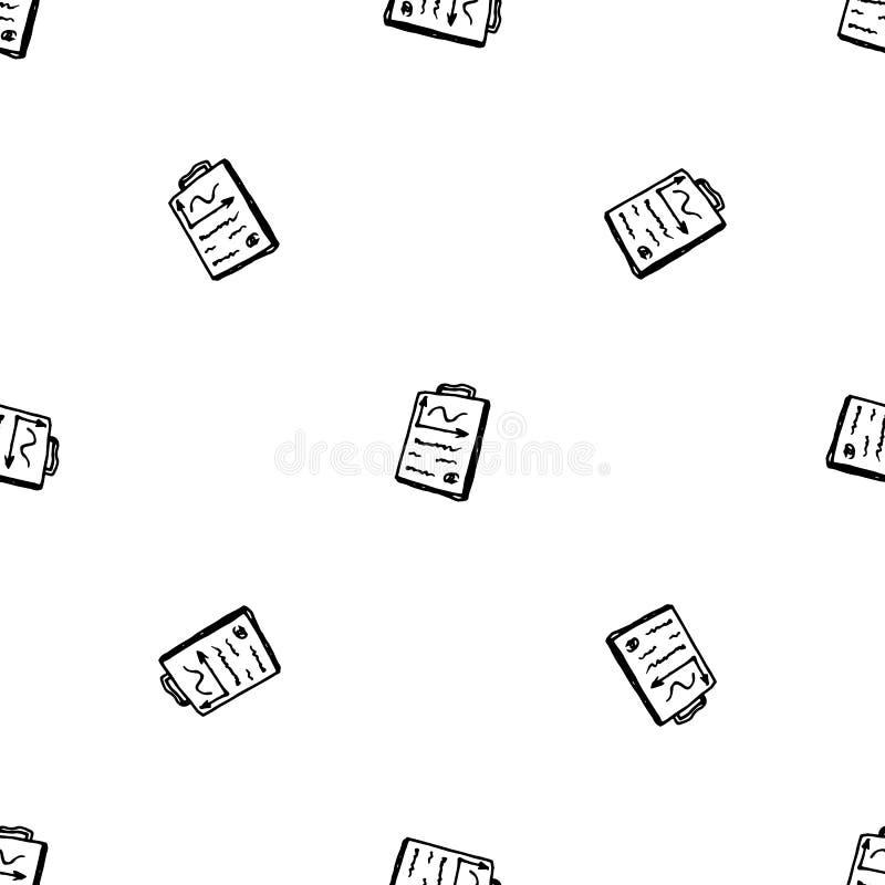 Συρμένο χέρι άνευ ραφής έγγραφο σχεδίων doodle Εικονίδιο ύφους σκίτσων Στοιχείο διακοσμήσεων o : απεικόνιση αποθεμάτων