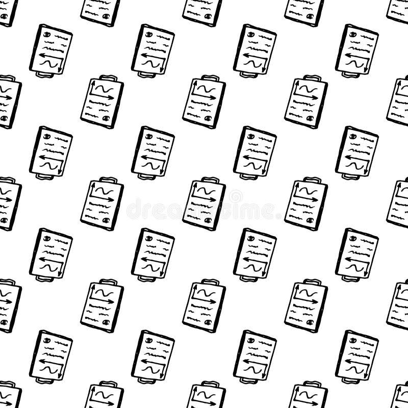 Συρμένο χέρι άνευ ραφής έγγραφο σχεδίων doodle Εικονίδιο ύφους σκίτσων Στοιχείο διακοσμήσεων o : ελεύθερη απεικόνιση δικαιώματος