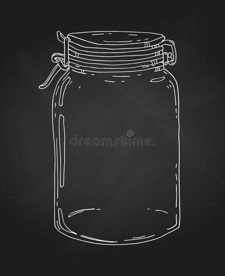 Συρμένο χέρι βάζο κιμωλίας ελεύθερη απεικόνιση δικαιώματος