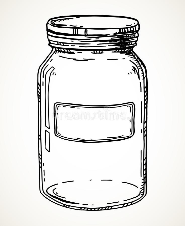 Συρμένο χέρι βάζο απεικόνιση αποθεμάτων
