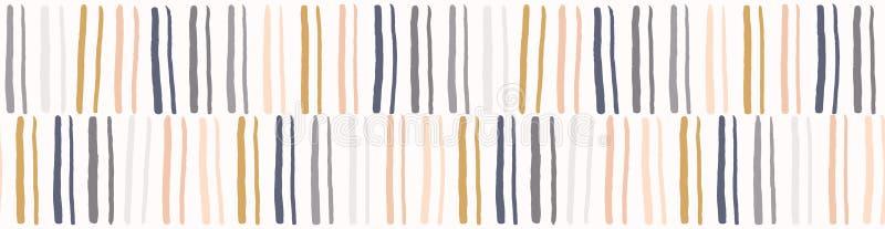Συρμένο χέρι γραφικό doodle σχέδιο συνόρων λωρίδων άνευ ραφής ελεύθερη απεικόνιση δικαιώματος