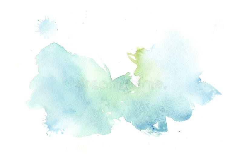 Συρμένο χέρι ζωηρόχρωμο αφηρημένο υπόβαθρο watercolor με τους λεκέδες ελεύθερη απεικόνιση δικαιώματος