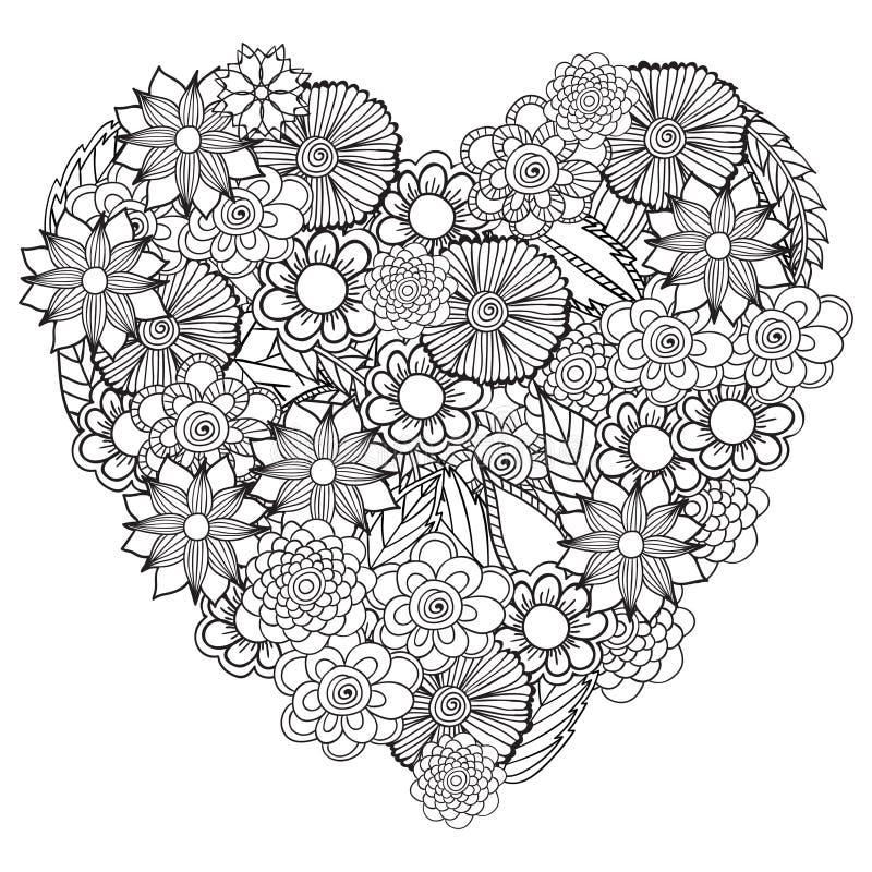 Συρμένο χέρι καλλιτεχνικό εθνικό διακοσμητικό διαμορφωμένο floral πλαίσιο μέσα απεικόνιση αποθεμάτων