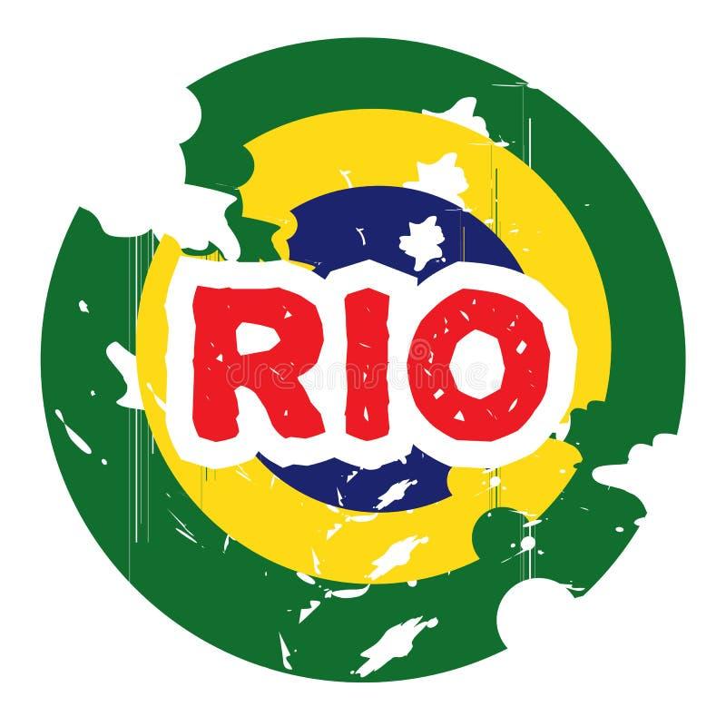 Συρμένο χέρι λογότυπο για το Ρίο απεικόνιση αποθεμάτων