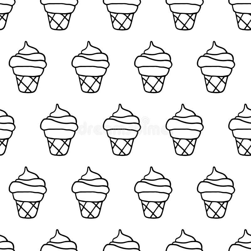 Συρμένο χέρι παγωτό μελανιού ελεύθερη απεικόνιση δικαιώματος