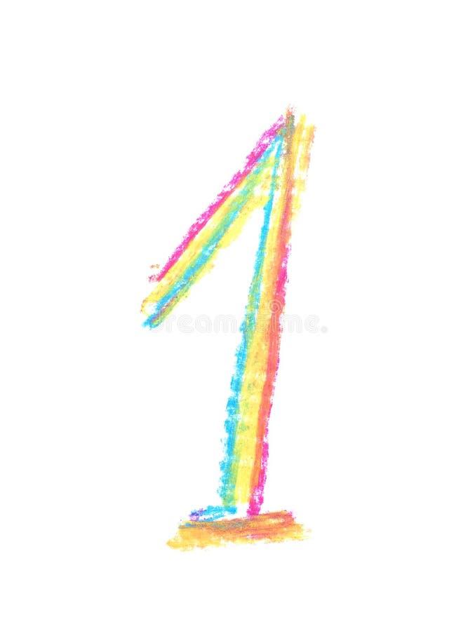 Συρμένο χέρι σύμβολο αριθμού που απομονώνεται διανυσματική απεικόνιση