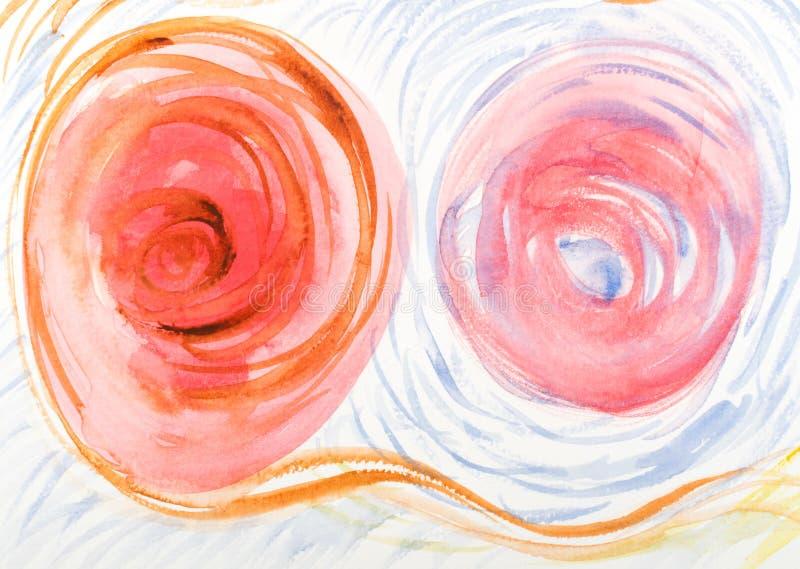 Συρμένο χέρι υπόβαθρο Watercolor ή σχέδιο ακουαρελών στοκ εικόνες με δικαίωμα ελεύθερης χρήσης