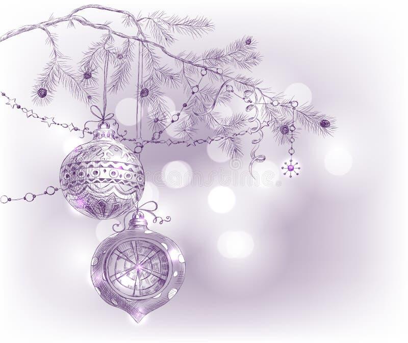 συρμένο Χριστούγεννα χέρι &k διανυσματική απεικόνιση