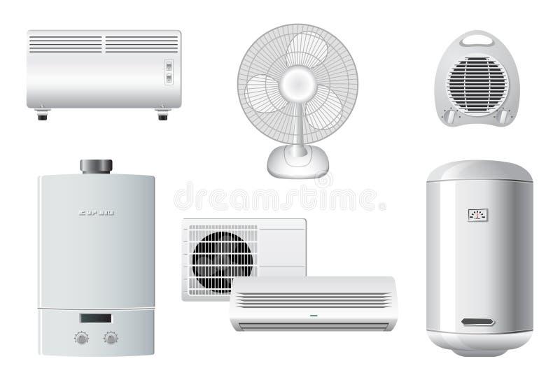 συσκευές αέρα που ρυθμί&z διανυσματική απεικόνιση