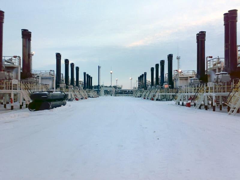 Συσκευές για την προετοιμασία του εμπορικού πετρελαίου hitter-Tritters, άποψη από το εξωτερικό, υπαίθρια στοκ φωτογραφία με δικαίωμα ελεύθερης χρήσης