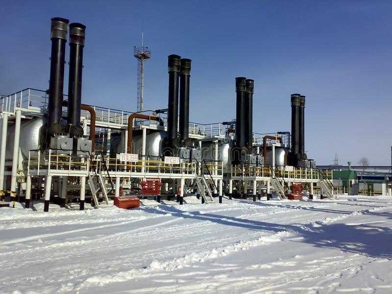 Συσκευές για την προετοιμασία του εμπορικού πετρελαίου hitter-Tritters, άποψη από το εξωτερικό, υπαίθρια στοκ εικόνες με δικαίωμα ελεύθερης χρήσης