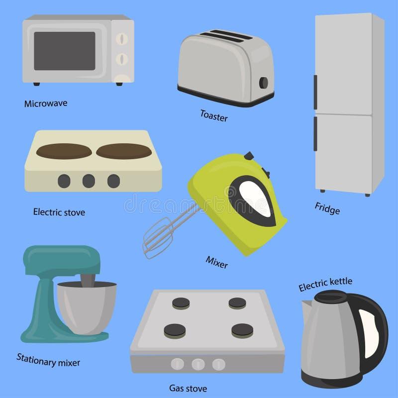 Συσκευές κουζινών και σπιτιών απεικόνιση αποθεμάτων