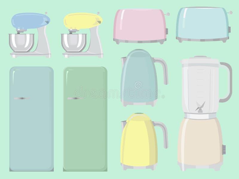 Συσκευές κουζινών, σκεύος για την κουζίνα ελεύθερη απεικόνιση δικαιώματος