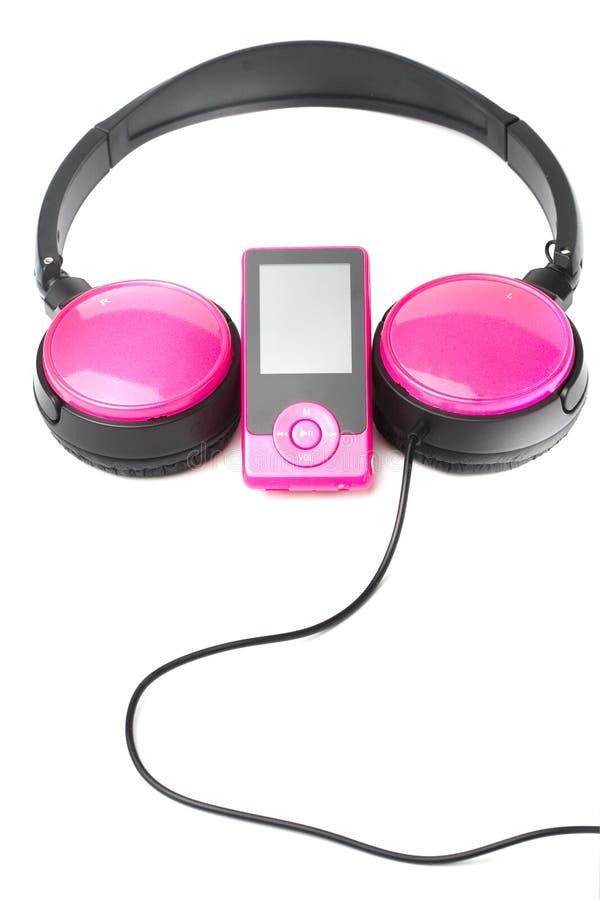 συσκευή αναπαραγωγής πολυμέσων ακουστικών στοκ εικόνες