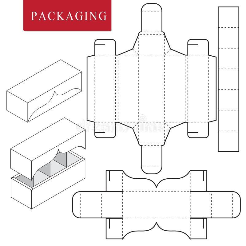Συσκευασία για το αρτοποιείο Απομονωμένη άσπρη λιανική χλεύη επάνω Καμία κόλλα ελεύθερη απεικόνιση δικαιώματος