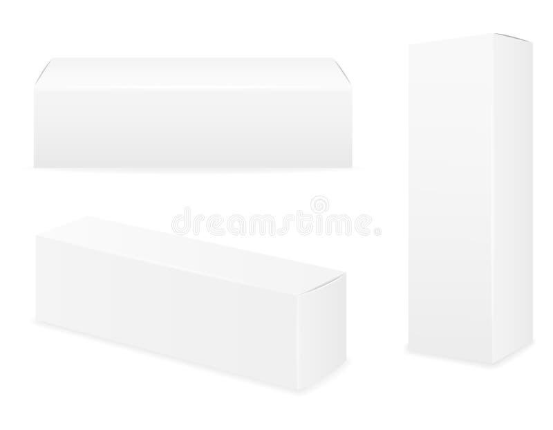 Συσκευασία κιβωτίων του κενού προτύπου οδοντόπαστας για τη διανυσματική απεικόνιση αποθεμάτων σχεδίου διανυσματική απεικόνιση