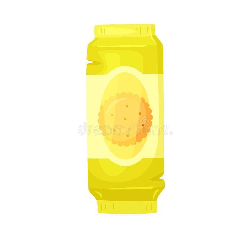 Συσκευασία μπισκότων κροτίδων ελεύθερη απεικόνιση δικαιώματος