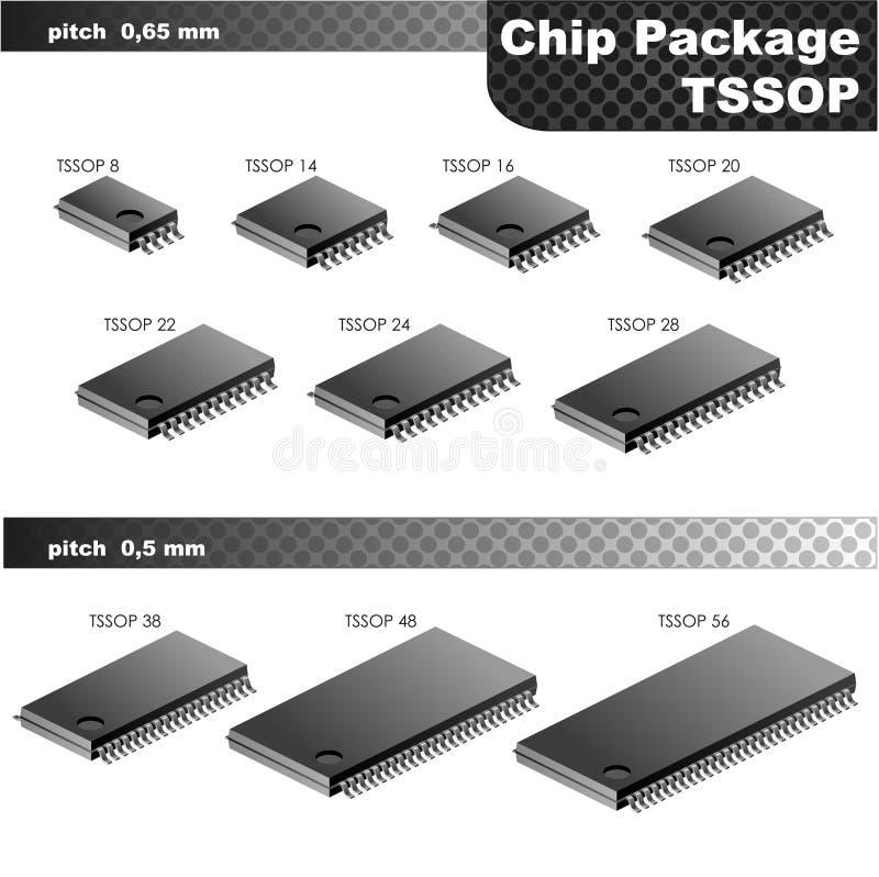 Συσκευασία τσιπ (TSSOP) απεικόνιση αποθεμάτων