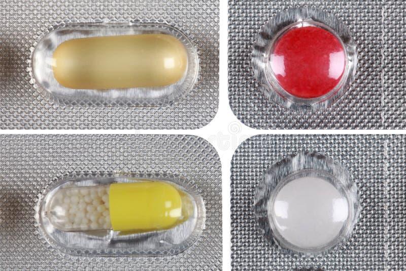 Συσκευασία φουσκαλών με τα ζωηρόχρωμα χάπια στοκ εικόνα με δικαίωμα ελεύθερης χρήσης