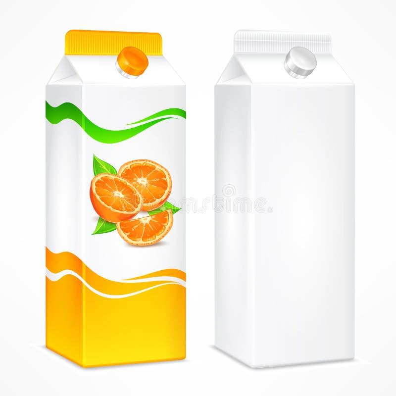 Συσκευασία χυμού από πορτοκάλι διανυσματική απεικόνιση