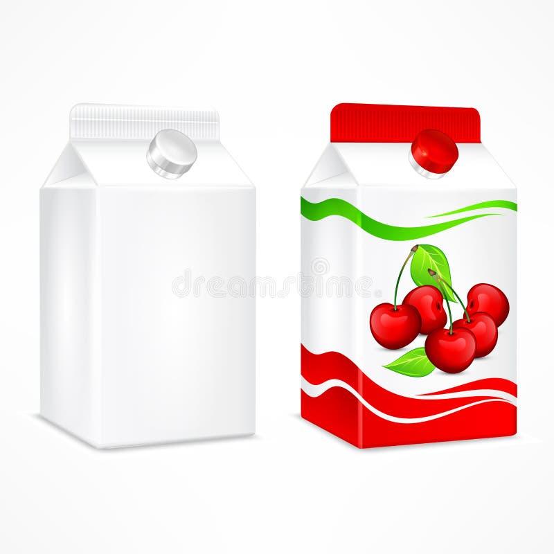 Συσκευασία χυμού κερασιών διανυσματική απεικόνιση
