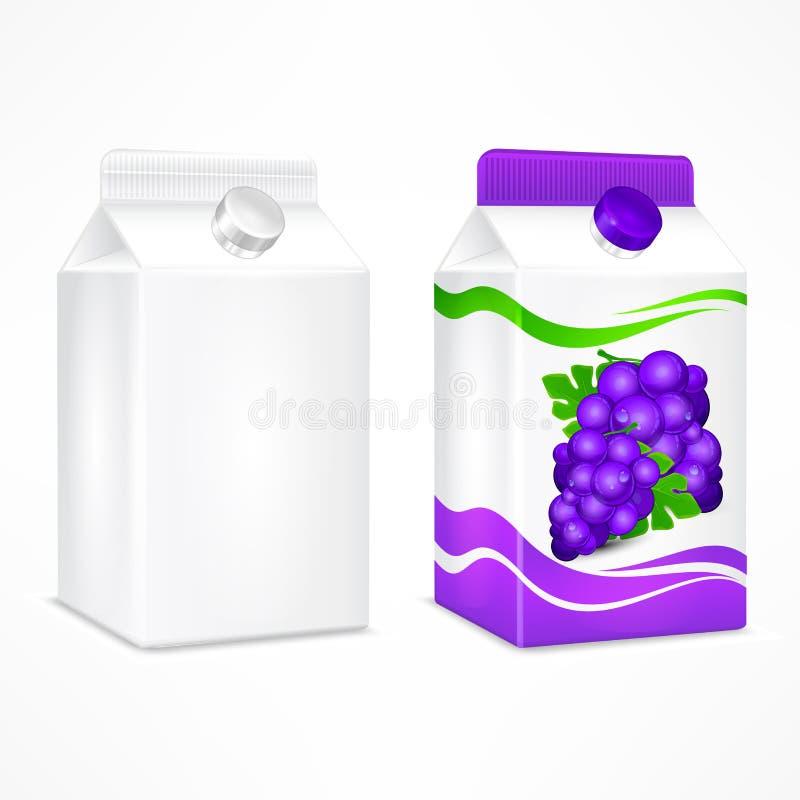 Συσκευασία χυμού σταφυλιών απεικόνιση αποθεμάτων