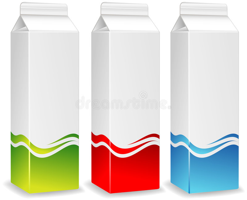συσκευασίες χρώματος Στοκ Εικόνες