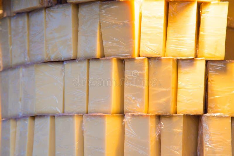 Συσκευασμένος σωρός του τυριού στοκ φωτογραφίες με δικαίωμα ελεύθερης χρήσης