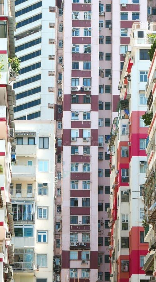 Συσσωρευμένα κατοικημένα κτήρια στοκ εικόνες με δικαίωμα ελεύθερης χρήσης