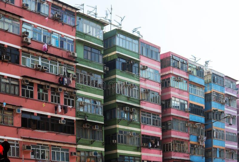 Συσσωρευμένη και παλαιά ασιατική κατοικία στοκ εικόνα με δικαίωμα ελεύθερης χρήσης