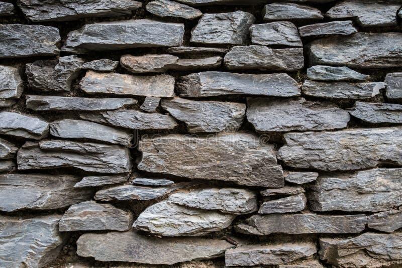 Συσσωρευμένο υπόβαθρο τοίχων πετρών στοκ εικόνες με δικαίωμα ελεύθερης χρήσης