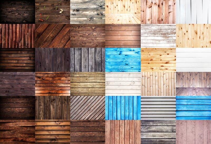 συστάσεις ξύλινες Μεγάλο σύνολο ξύλινων υποβάθρων για το σχέδιο Ιστού στοκ εικόνες με δικαίωμα ελεύθερης χρήσης