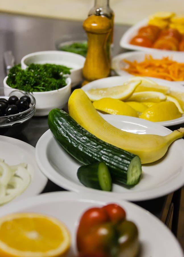 Συστατικά κουζινών εστιατορίων στοκ εικόνες