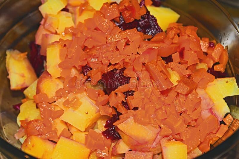 Συστατικά της φυτικής σαλάτας στοκ φωτογραφία