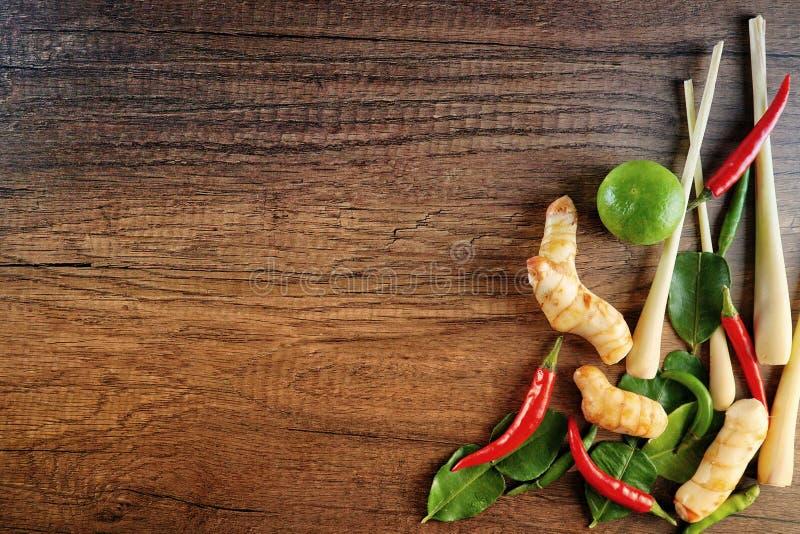 Συστατικό του μαγειρέματος σούπας του Tom Yum στοκ φωτογραφίες με δικαίωμα ελεύθερης χρήσης