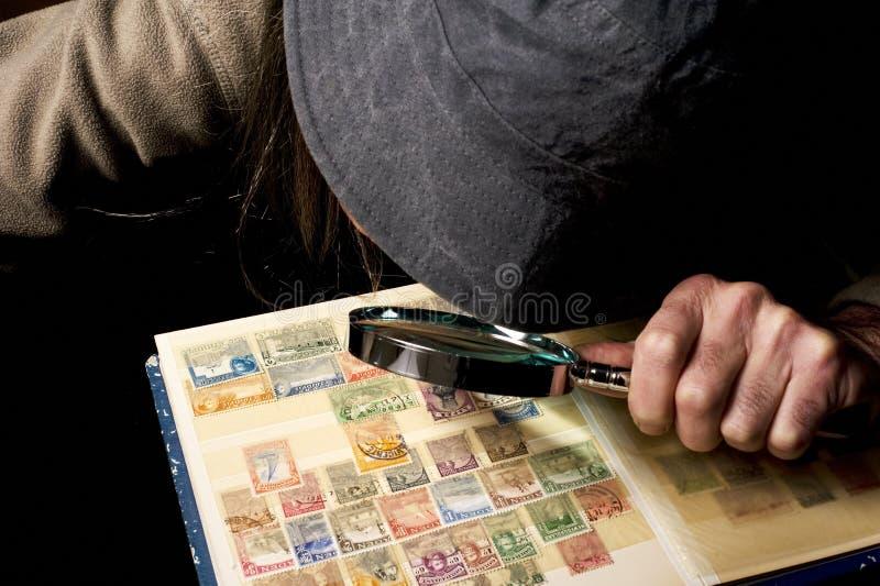 Συλλέκτης γραμματοσήμων στοκ εικόνες με δικαίωμα ελεύθερης χρήσης