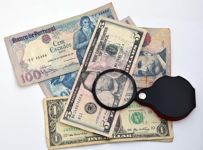 Συλλέξτε τα τραπεζογραμμάτια στοκ εικόνες