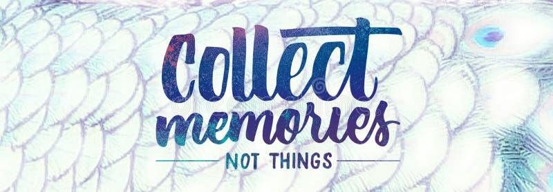 Συλλέξτε τις μνήμες ελεύθερη απεικόνιση δικαιώματος