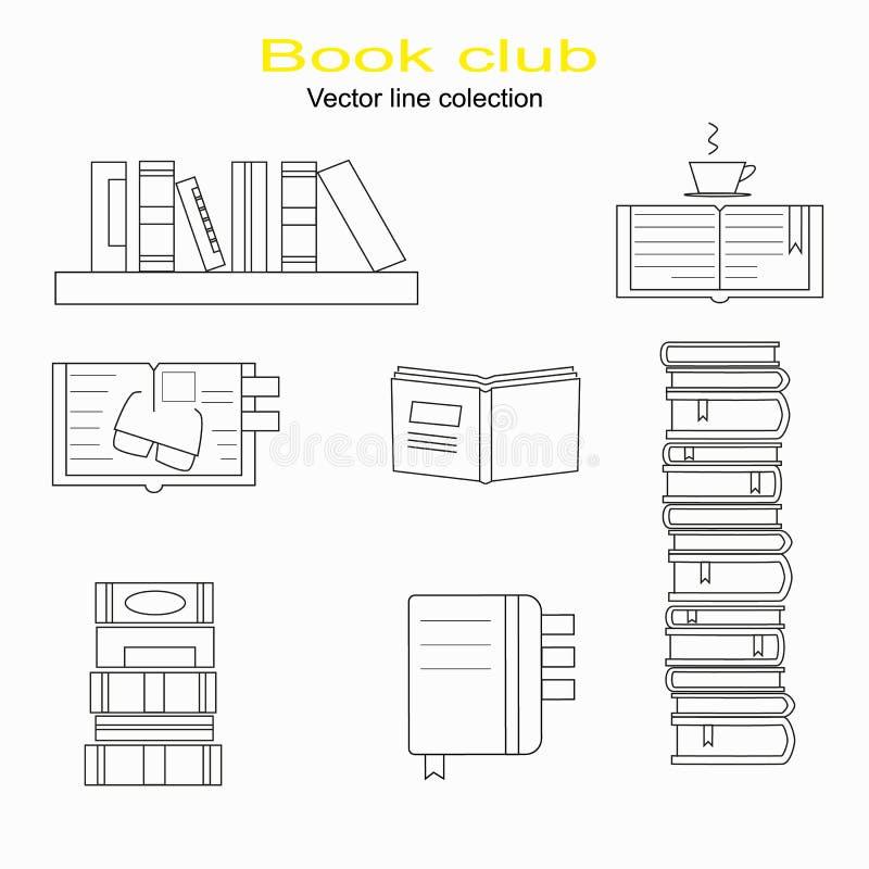 Συλλογή βιβλίων, λέσχη βιβλίων, πίσω στο σχολείο, σωρός βιβλίων ελεύθερη απεικόνιση δικαιώματος