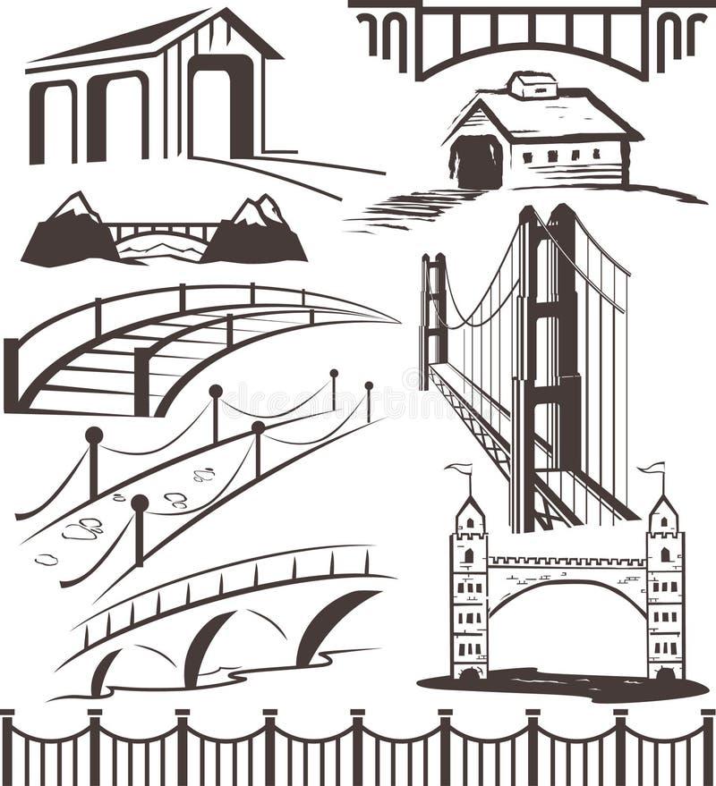Συλλογή γεφυρών διανυσματική απεικόνιση
