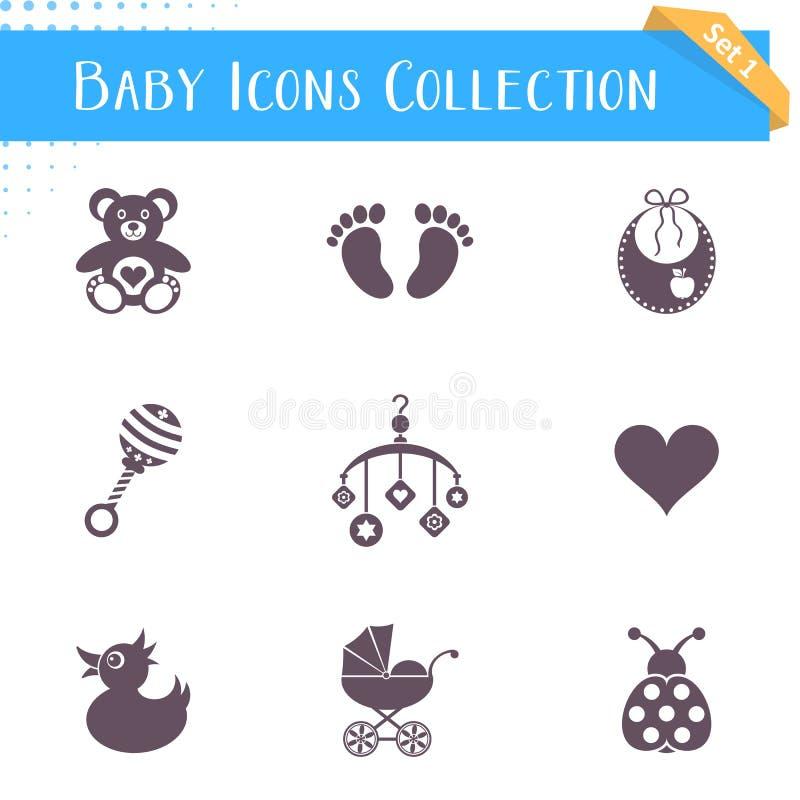 Συλλογή εικονιδίων μωρών απεικόνιση αποθεμάτων