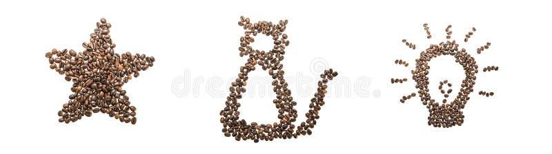 Συλλογή εικόνων καφέ στοκ φωτογραφία με δικαίωμα ελεύθερης χρήσης