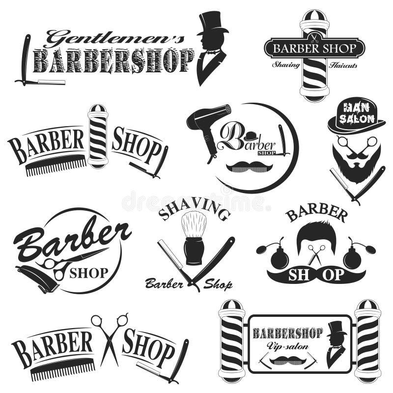 Συλλογή εργαλείων Barbershop διανυσματική απεικόνιση
