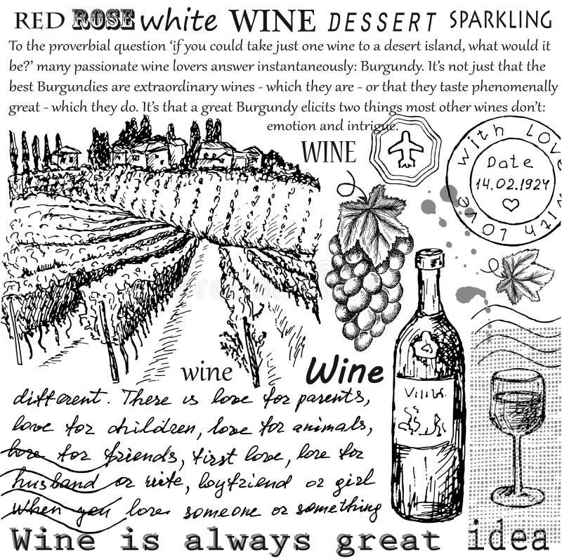 Συλλογή κρασιού ελεύθερη απεικόνιση δικαιώματος