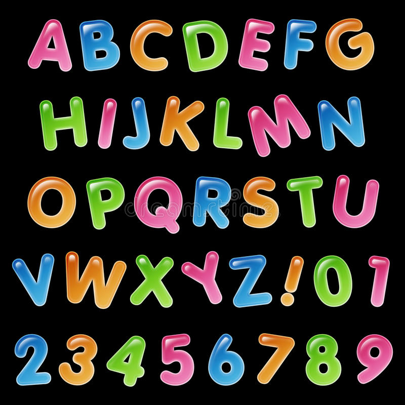 Συλλογή μπαλονιών γενεθλίων αλφάβητου διανυσματική απεικόνιση