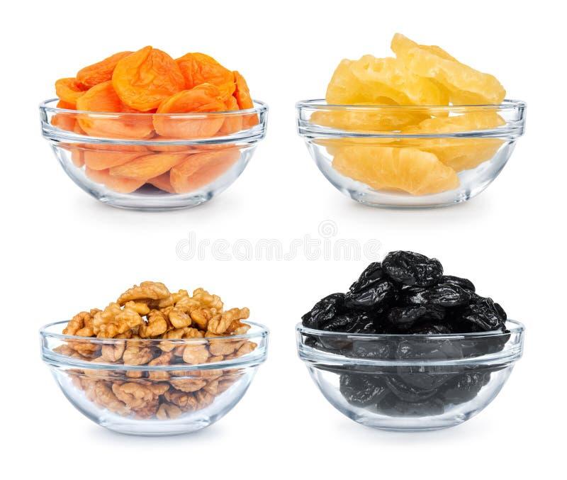 Συλλογή ξηρού - φρούτα σε ένα κύπελλο γυαλιού στοκ φωτογραφία με δικαίωμα ελεύθερης χρήσης